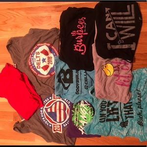 Tops - Lot of 9 Women's workout tanks, size Small & Med.